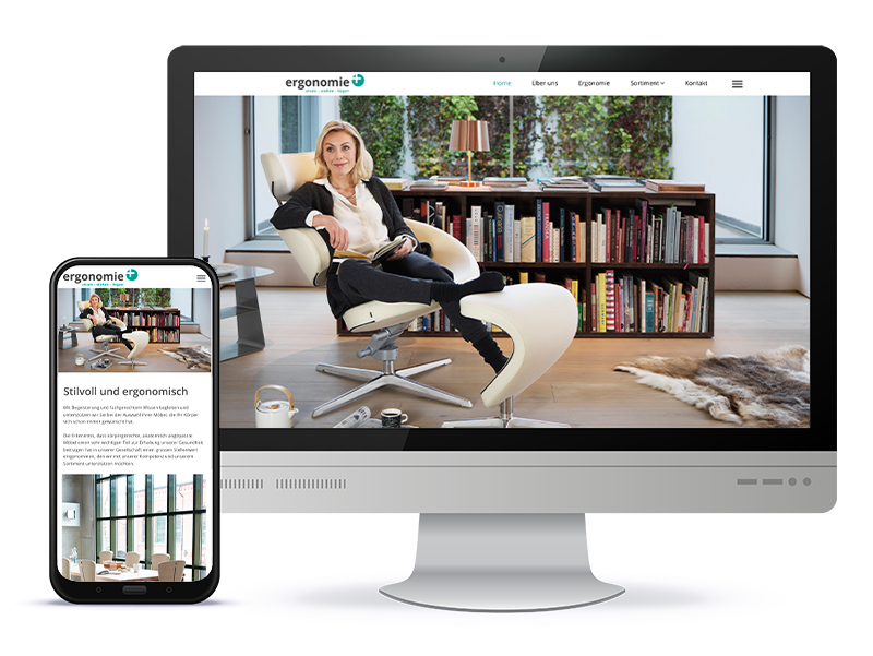 Referenz Webdesign - Ergonomie Plus