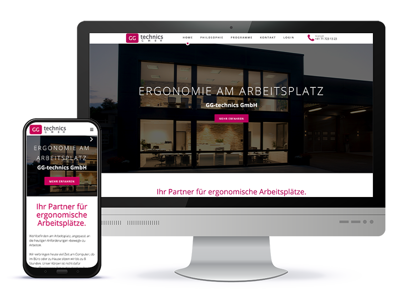 Referenz Webdesign - GG Technics